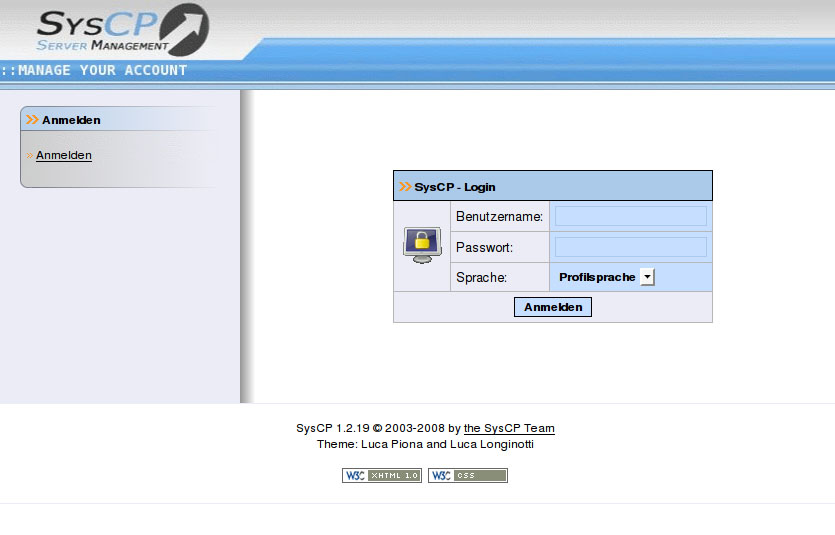 Syscp cpanel like control panel