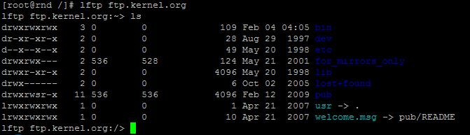 Lftp Linux Server Admin Tools