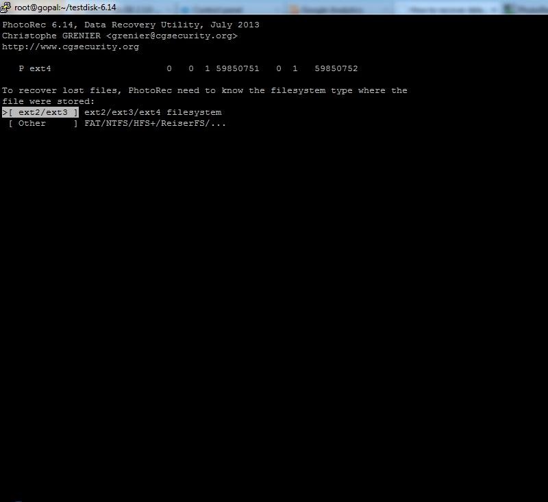PhotoRec - Recover Deleted files - Linux Server Admin Tools